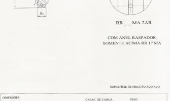 Rótulas Radiais - Série Média - Aço/Aço