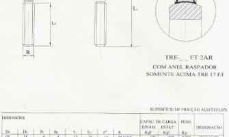 Série Estreita -Aço/PTFE - Rosca Externa